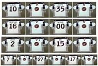 Vintage 1998 USA Olympische Trikots 10 JOHN LeCLAIR 35 MIKE RICHTER 16 PAT LAFONTAINE 2 BRIAN LEETCH 15 BRETT HULL Weißes Custom Hockey Trikot