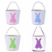 Bunny Basket Kids Candy Baskets Rabbit Tail Ears Barrel Bags Easter Party Festival Candies Easter Eggs Storage Totes Bunny Handbags YPP7152