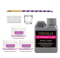 Manicure Set Acrílico Kit Art Nail Ferramentas Kit Set Para prego conjunto de ferramentas de cristal em pó acrílico Escova de Unhas