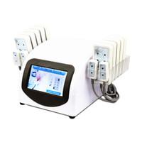 Venta caliente portátil Inicio Lipolaser adelgaza profesional de la máquina 10 largepads 4 smallpad Lipo láser equipo de la belleza Dispositivo para la pérdida de peso