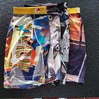 Stokta Erkek Moda Boksörler Hollywood 3D Baskı Lüks Boksörler Erkek Iç Çamaşırı Homme Hergün Dayanıklı Tasarımcı Boksörler S-XXL