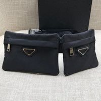 Latest Gemini bag Nylon single shoulder crossbody bags Chest package pockets One big one small chain bag unisex black leisure bags handbags