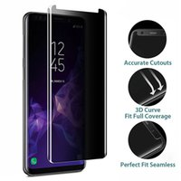 3D Comved 9u Case Friendly Privacy Gehard Glas voor Samsung Galaxy Note 9 8 S8 S9 Plus Anti Spy Peeping Screen Protector Film
