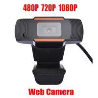 Cámara web de cámaras web de la cámara web HOT HOWCAM 480P / 720p / 1080p Cámara de PC de 1080p Micrófono de absorción de sonido incorporado USB 2.0 Registro de video para computadora para computadora portátil PC