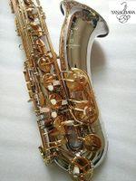 Yeni Yanagisawa T-9930 Tenor Saksafon Müzik Aletleri BB Ton Nikel Gümüş Kaplama Tüp Kılıfı ile Altın Anahtar Sax Mouthpiec Ücretsiz Kargo