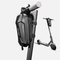 Новый электрический самокат велосипеда ЕВА с твердой оболочкой Ручка Бар Сумки складная сумка для велосипеда с серебристо-серым светоотражающая полоса баланс автомобиля передняя сумка