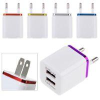 5V 2.1 + 1A двойное USB перемещение переменного тока настенное зарядное устройство для зарядного устройства с двойным зарядным устройством для iPhone Samsung Galaxy HTC Smart Phone Adapter