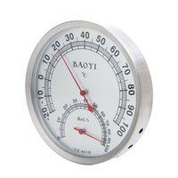 Baoyi 130 millimetri Nessuna batteria domestica termometro / tester di umidità del HD figura rotonda Clock InstrumentWall temperatura montaggio Hygromometer
