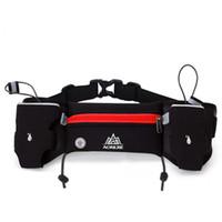 Al por mayor-AONIJIE cintura Ejecución de bolsas de deporte Hidratación correa del sostenedor de botella Fanny Marathon Running Pack reflectantes ajustable correa de cintura Bolsas