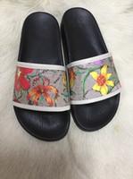 2020 delle donne degli uomini di moda unisex Flora stampa piana pantofole Blooms Tela sandali scivolo dimensioni euro 35-45