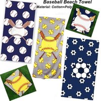 Baseball Serviette De Plage Rectangle Softball Football Serviette De Sport Serviettes En Microfibre Couvertures Superfine Fibre Plage Accessoires MMA1654