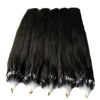 Micro Ring Beads Haarverlängerungen Micro Loop Real Remy Brasilianisches Haar 100G Remy Brasilianische Gerade Loop Micro Ring Echthaarverlängerungen