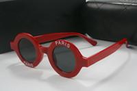 Großhandels-Luxus Runde Sonnenbrille Womens Designer Beschichtung Paris Print 2018 New Italy Ladies Brillen kommen mit Box