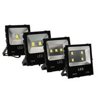 New Radiator LED Flood Luz Projector 100W (2 * 50W) COB Projector 110V 10000lm IP65 CE vidro temperado Alumínio New Style