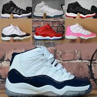 11 basketballshoes 11 shoes Concord Gym Kırmızı Basketbol Ayakkabı Çocuk Boy Kız Beyaz Pembe Midnight Navy Sneakers Bebekler Doğum Hediye Bred