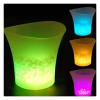 5L Glowing LED Ice Bucket 7Color Champagne Wine Drinks Refrigeratore di ghiaccio per bar ristorante Nightclubs KTV Pub Party