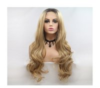 Hot selling sexy fashion Long hair wig 24 inch ombre color b...
