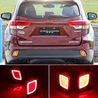2PCS réflecteur pour Toyota Highlander Kluger XU50 2014-2018 voiture LED arrière ANTIBROUILLARD Pare-chocs Feu de freinage Feu arrière