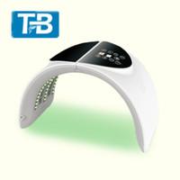 공장 가격 2019 뜨거운 가정 사용 휴대용 LED 얼굴 처리 LED 얼굴 마스크 7 색 PDT Led 치료 아름다움 기계