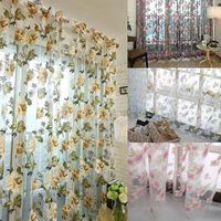 estilo de moda de luxo apagão janela cortinas cortinas da cozinha sala painel cortina de tecidos jacquard cortina de porta