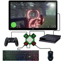 Nintendo Anahtarı / Xbox / PS4 / PS3 için bir USB Oyun Kontrolörleri Adaptörü Dönüştürücü Video Oyunu Klavye Fare adaptörü