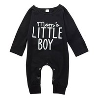 Fashion Newborn Rompers Baby Boys Letter Print Outfits Toddl...