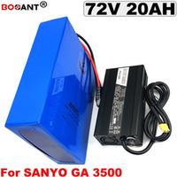 Batterie de vélo électrique 72V 20AH pour Sanyo original GA 3500mAh 18650 cellulaire