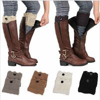 Moda Kadınlar Kış Ayak Isıtıcıları Manşetleri Toperler Boot Çorap Crochet Örme Dantel Trim