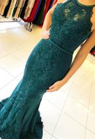 2019 Mermaid Sexy Evening Dresses Long Lace Prom Gown Formal...