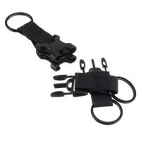 Três-fivela de anel Multi-função Combinação Sports Bag Acessórios Tático Mochila Gancho Dispositivo de Caça Ferramentas Mais Novo