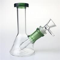 5-дюймовые стеклянные водяные бонги с 14 мм кальянской чаши вниз по толстым уникальным мини-стакане Бонг рециркулируют масляные вышки для курящих труб