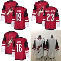 Wholesale hockey Jersey Phoenix Arizona Coyotes Stitched Mens 16 Max Domi  Jersey 23 Oliver Ekman-Larsson Red White Blank Hockey Jerseys d783bf542