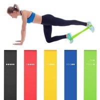 5PCS Yoga faixas da resistência de alongamento borracha loop Exercício Fitness Equipment Strength Training Pilates Corpo Treinamento de Força