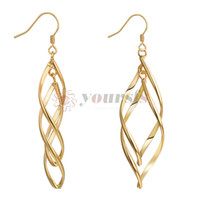 Yoursfs Hot Hollow Rhombus Drop Earrings For Women Gold Colo...