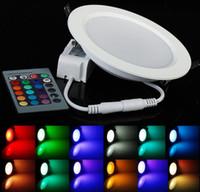 高出力5w 10W LEDパネルライトシーリングランプダウンライトリモートRGB AC85-265V CE / ROHS LLFAを備えたスポットランプの電球