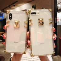Fashion Square Clear TPU Case for iPhone X XS MAX XR Luxury ...