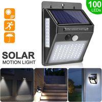 100 LED Solar Light Outdoor Solar Lamp PIR Motion Sensor Wandlamp Waterdicht Zonne-energie zonlicht voor tuindecoratie