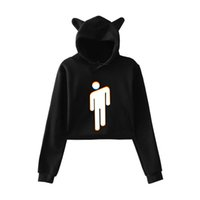 FADUN 2018 Billie Eilish modetrend sala Katze Crop Top Frauen sommer Hoodies Sweatshirt Sexy hot Kpop Harajuku plus Größe