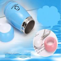 Пингвин бутылка воды из нержавеющей стали Чашки двухслойных 5 цветов массажеров Симпатичного термос термоса Чашка 280ML CFYZ139Q