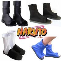 Nuovo Anime giapponese NARUTO Akatsuki / Hatake Kakashi / Uzumaki Naruto Cosplay Scarpe Halloween / Carnaval Cosplay Scarpe Taglia 36-44