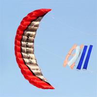 2.5m double ligne Parachute Kite Parapente Plage Software Stunt Kitesurf Outdoor Sport Nylon Enfants adultes Cadeaux de vacances