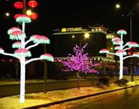 Nuevo LED Árbol de cerezo en flor Árbol artificial impermeable al aire libre, 5 pies, 540 leds Rosa Verde Blanco Azul Color para bodas de vacaciones
