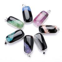الجملة حجر العقيق الطبيعي قلادة قلادة للمجوهرات ديي أزياء سيدة الأحجار الكريمة سترة سلسلة الشحن المجاني STXL041