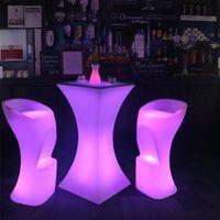 83 سنتيمتر ارتفاع أدى مضاءة الأثاث قابلة للشحن led كرسي الزفاف حزب بار الديكور