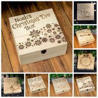 Горячие Продажа рождественские украшения деревянный ящик Carving Снеговик Снежинка Deer Apple, подарочные коробки для взрослых и детей 13jc H1