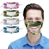 Yeni Yüz Maskesi Dudak Dil Yüz Pamuk Kamuflaj Yeniden Yıkanabilir Anti Toz Koruyucu Ağız Maskeleri Tasarımcı HHA1420-4 Maske