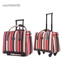 Chupermore Ultralight Oxford Rolling Luggage Spinner Marca Valigia Ruote da 18 pollici Le donne portano il carrello Password