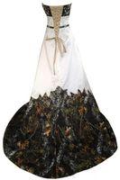 Nuevos vestidos de fiesta de camuflaje Una línea de abalorios con cordones sin respaldo Sweetheart Bordado Corte de tren Camo Vestidos de novia Tallas grandes Imagen real 045