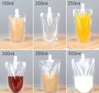 Shiping libero 100 pz / lotto 250 ml 300 ml 500 ml Stand-up sacchetto di plastica di imballaggio sacchetto beccuccio sacchetto per bevande liquido succo di latte caffè