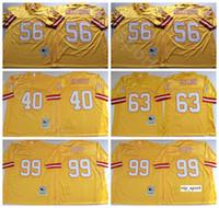 NCAA Futbol 63 Lee Roy Selmon 99 Warren Sapp Formalar 40 Mike Alstott 56 Hardy Nickerson Renk Sarı Adam Vintage Dikiş İyi